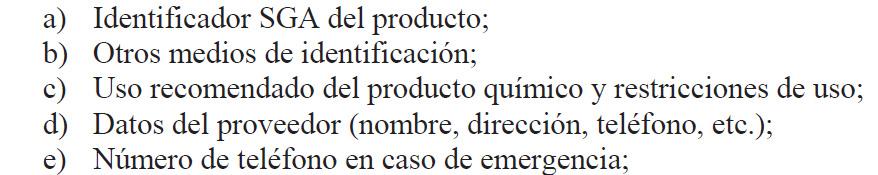 Identificación del producto